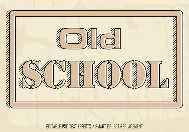 Old school bewerkbaar teksteffect
