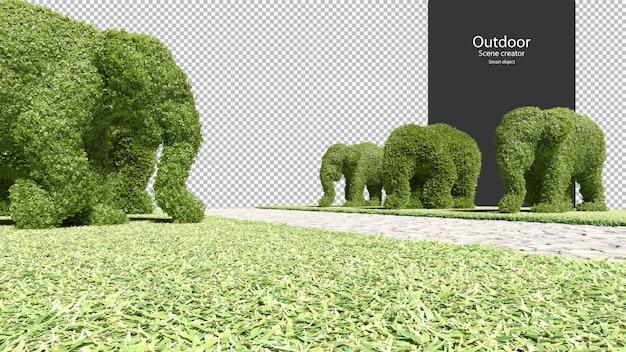 Olifantvormige tuinhagen tuinpad