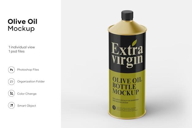 Olijfolie blikje dop mockup