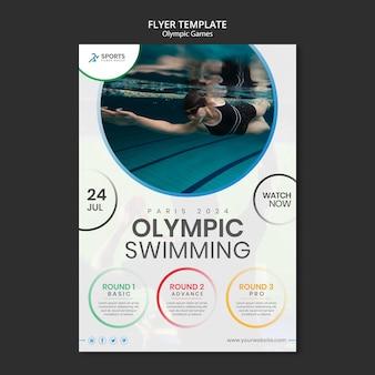 Olympische spelen afdruksjabloon