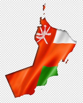 Oman vlag kaart
