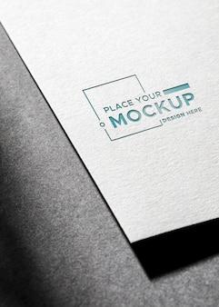 Ombre di alta vista del biglietto da visita mock-up