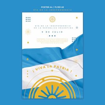 Onafhankelijkheidsdag flyer voor argentinië