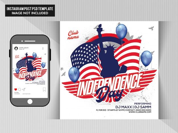 Onafhankelijkheidsdag flyer