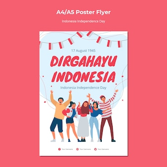 Onafhankelijkheidsdag poster van indonesië