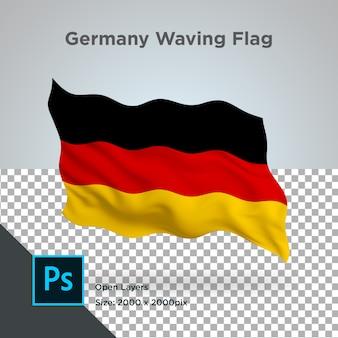 Onda de bandera de alemania psd transparente