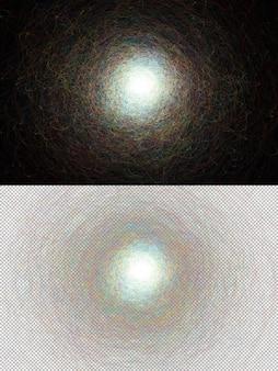 Onda colorida formada por salpicaduras abstractas. ilustración digital