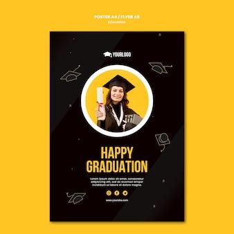 Onderwijs concept poster sjabloon