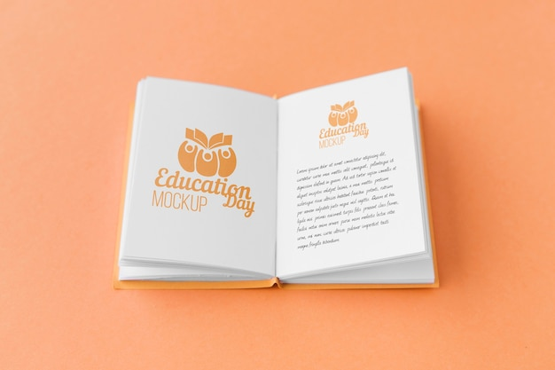 Onderwijs dag concept mock-up