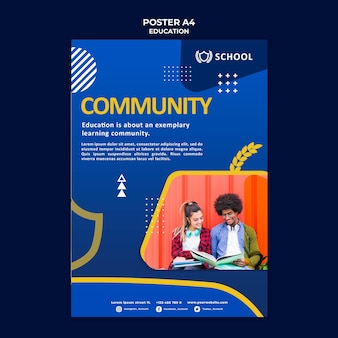 Onderwijs poster sjabloon met foto