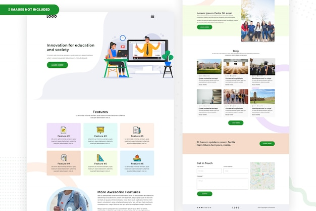Onderwijs website pagina-ontwerp