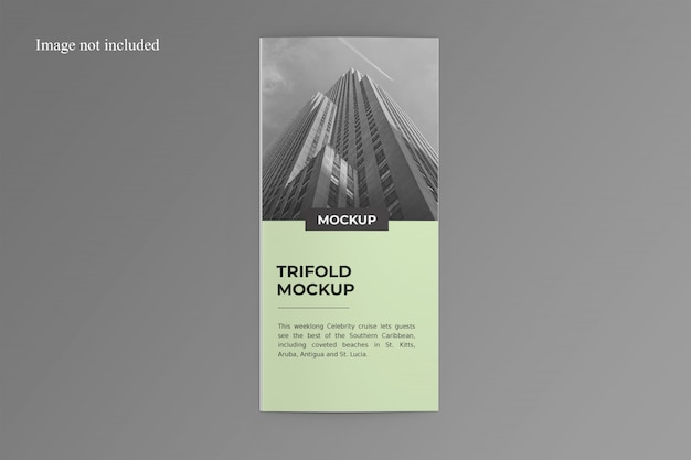 One side trifold brochure mockup
