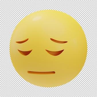 Ongelukkig gezicht emoji 3d illustratie