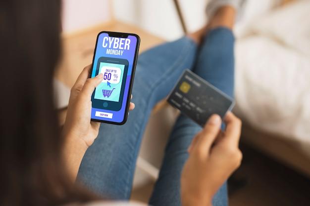 Online boodschappen op zwarte vrijdag verkoop