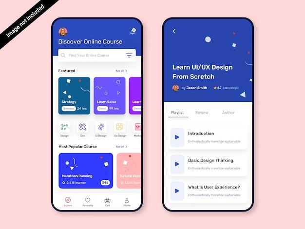 Online cursus & online klasse app ui-ontwerp