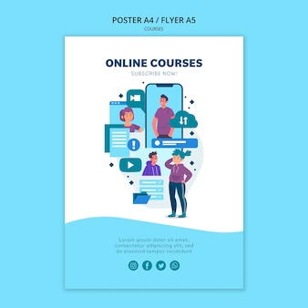 Online cursussen poster sjabloon