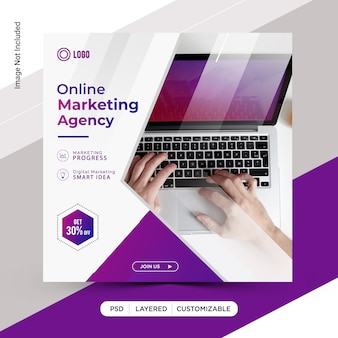 Online digitaal marketing sjabloonontwerp