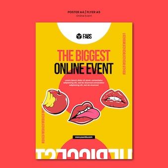 Online evenement poster sjabloon