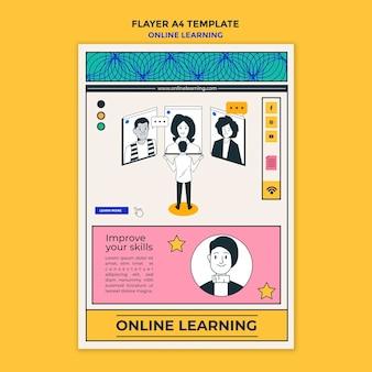 Online leren poster sjabloon