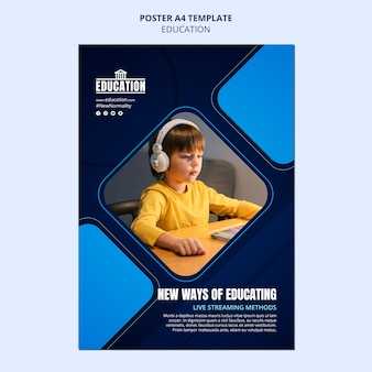 Online onderwijs poster sjabloon