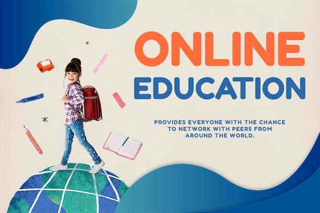 Online onderwijssjabloon psd toekomstige technologie