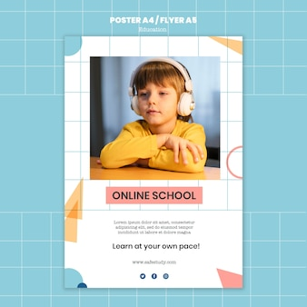 Online school afdruksjabloon
