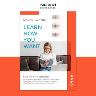 Online school posterontwerp