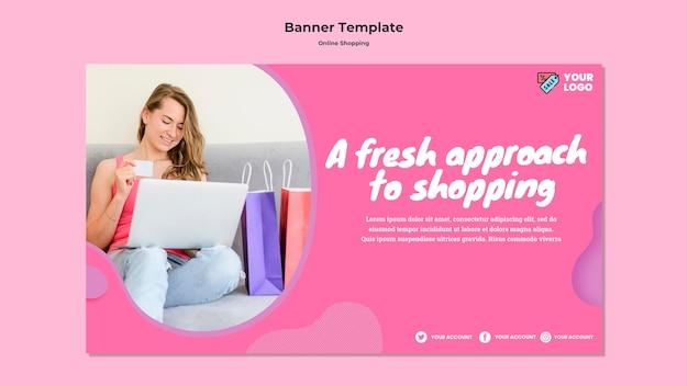 Online winkelen banner sjabloonontwerp