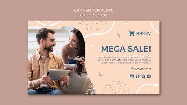 Online winkelen banner sjabloonstijl
