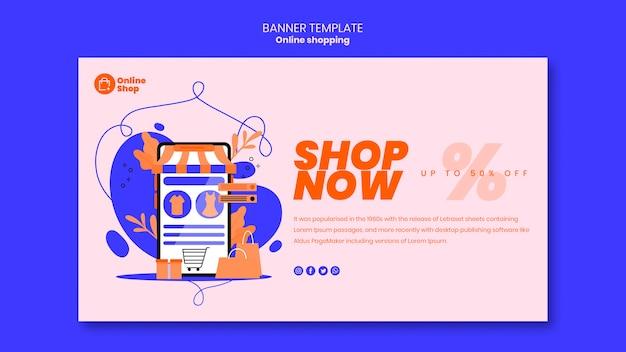 Online winkelen bannerontwerp