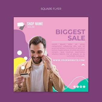 Online winkelen flyer concept