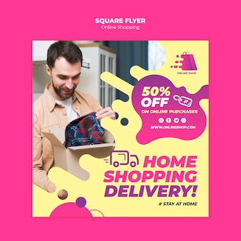 Online winkelen flyer-thema