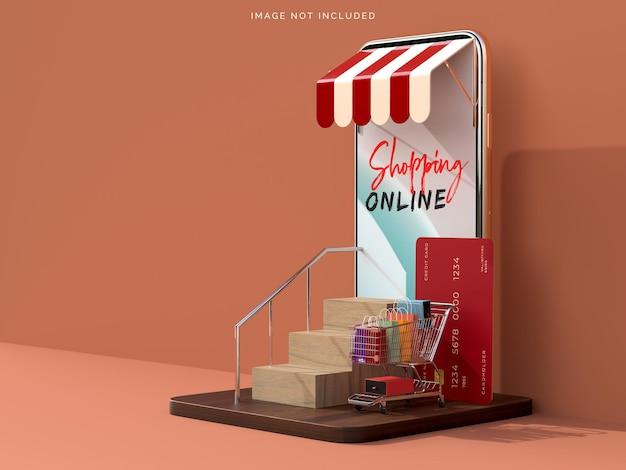 Online winkelen met mockups voor smartphones