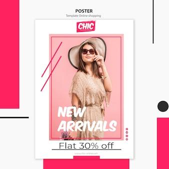 Online winkelen posterontwerp