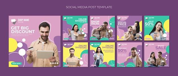 Online winkelen social media post