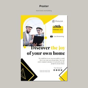 Onroerend goed concept poster sjabloon