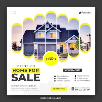 Onroerend goed huis instagram-bericht of sjabloon voor spandoek voor sociale media