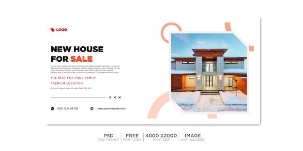 Onroerend goed huis onroerend goed facebook omslag en webbanner