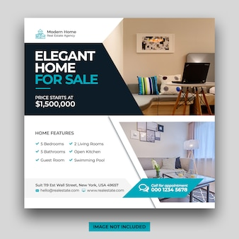 Onroerend goed huis te koop social media post