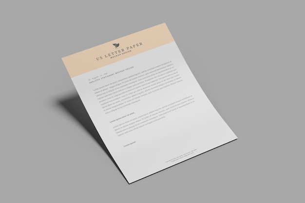 Ons briefpapier flyer mockup