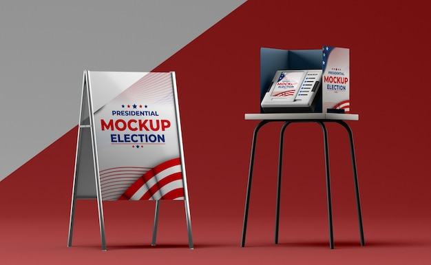 Ons verkiezingen concept mock-up