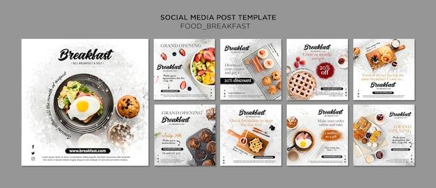 Ontbijt concept instagram post collectie