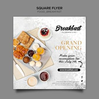 Ontbijt concept sjabloon folder