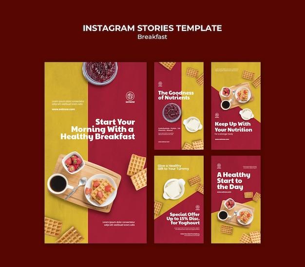 Ontbijt instagram-verhalen
