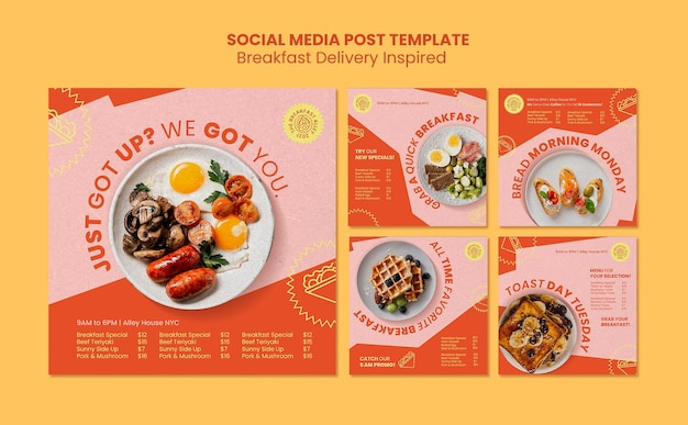 Ontbijtbezorging op sociale media