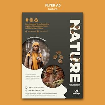 Ontspan met natuur-flyersjabloon