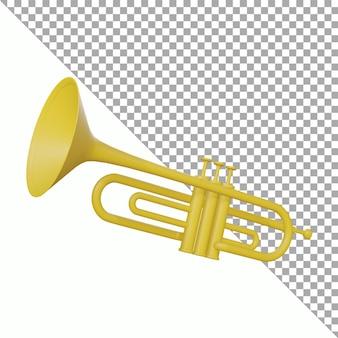 Ontwerp 3d render trompet uitknippad