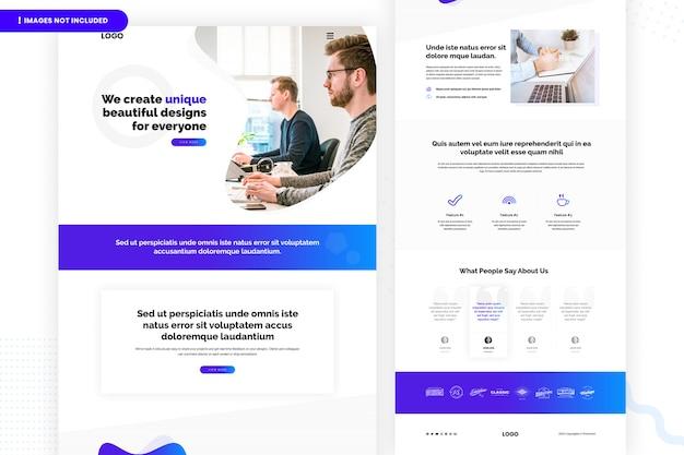 Ontwerp bedrijfspagina van website