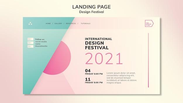 Ontwerp de bestemmingspagina van het festival