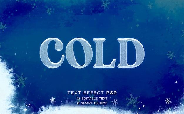 Ontwerp met koud teksteffect